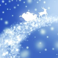 クリスマス サンタとトナカイ